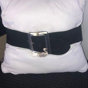 Roberto Cavalli crystal embellished suede belt